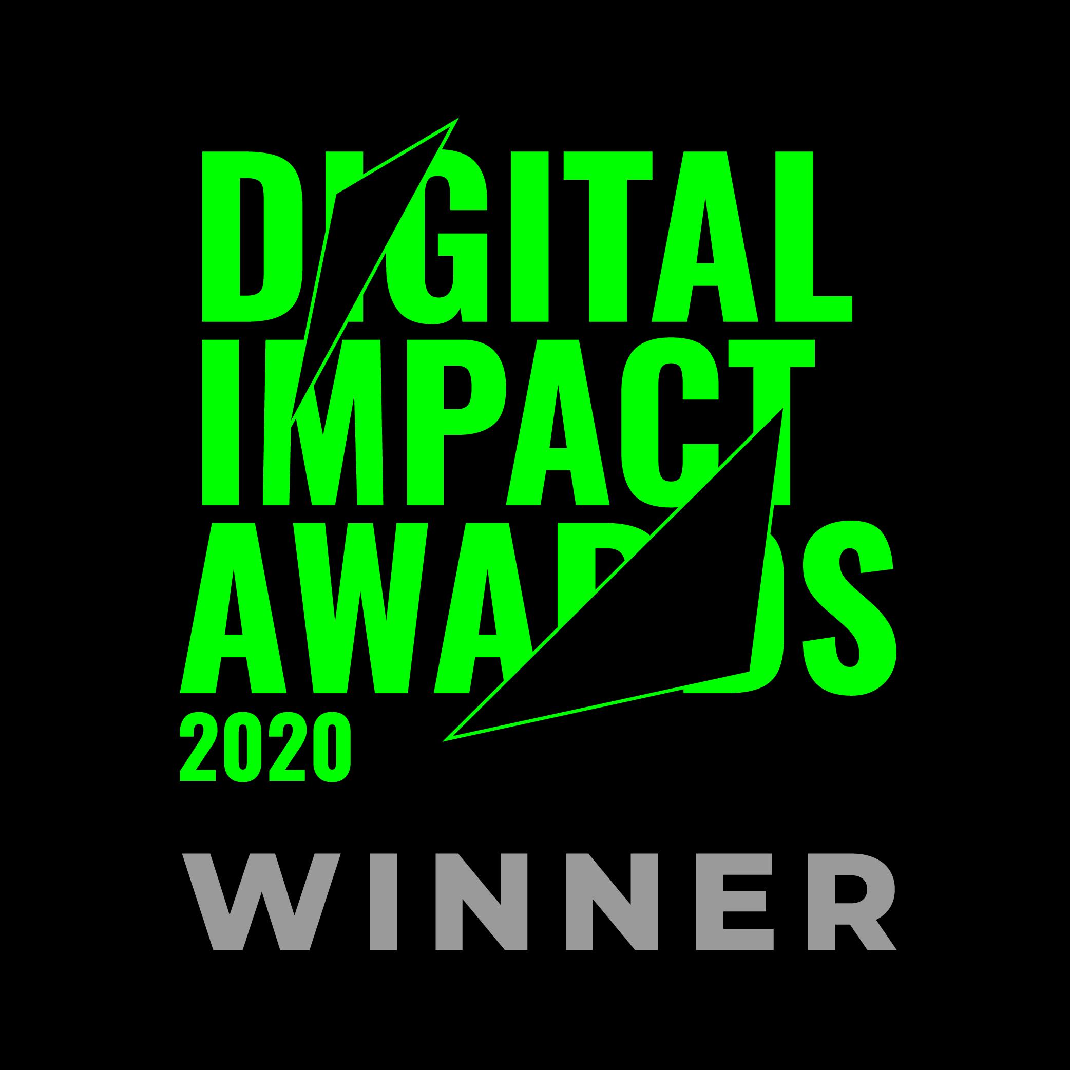 Digital Impact Award Winner