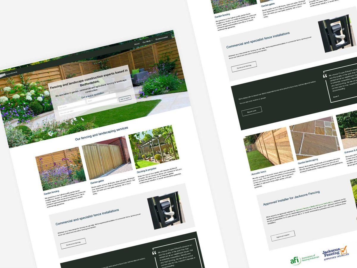 Cooper Edwards Website Redesign