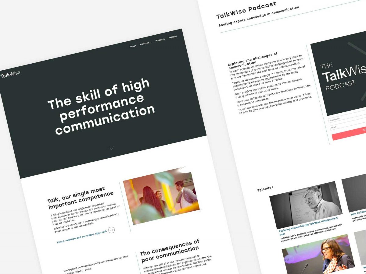 New website for TalkWise